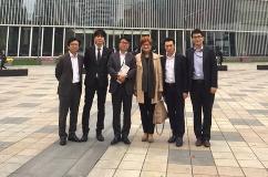 Danica Purg with Alumni from Korea